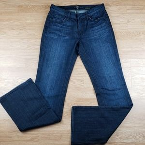 7 For All Mankind Mid Rise Bootcut Jean's Sz 28